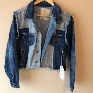 NWT Denim patchwork jacket